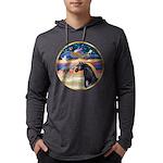 Xmas Star / Arabian Horse (bl Mens Hooded Shirt
