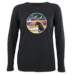 Xmas Star / Arabian Horse (bl Plus Size Long Sleev