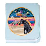 Xmas Star / Arabian Horse (bl baby blanket