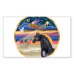 Xmas Star / Arabian Horse (bl Sticker (Rectangle 5