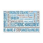 Gangstalking Awareness Large Car Magnet 20 X 12