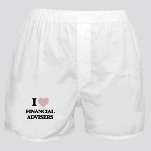 I love Financial Advisers (Heart made Boxer Shorts