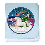 Christmas Magic - White Arabian Horse baby bla