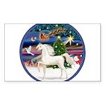 Christmas Magic - White Arabian Horse Sticker