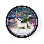 Christmas Magic - White Arabian Horse Wall Clo