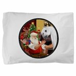 Xmas Fantasy - White Arabian Horse Pillow Sham