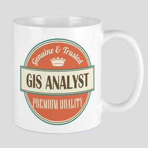 gis analyst vintage logo Mug
