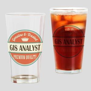gis analyst vintage logo Drinking Glass