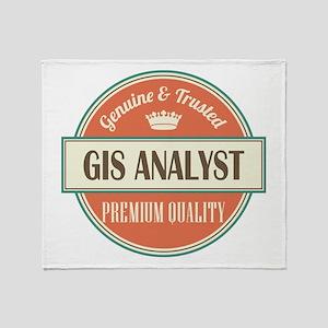 gis analyst vintage logo Throw Blanket