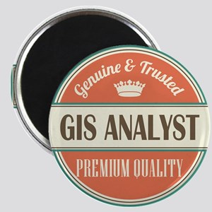 gis analyst vintage logo Magnet
