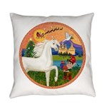 Xmas Fantasy - White Arabian Horse Everyday Pi