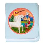 Xmas Fantasy - White Arabian Horse baby blanke