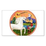 Xmas Fantasy - White Arabian Horse Sticker (Re