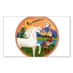 Xmas Fantasy - White Arabian Horse Sticker (Re
