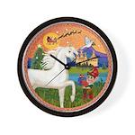 Xmas Fantasy - White Arabian Horse Wall Clock
