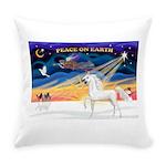 Christmas Sunrise - White Arabian Horse Everyd