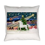 2-Christmas Magic - White Arabian Horse Everyd