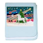 2-Christmas Magic - White Arabian Horse baby b