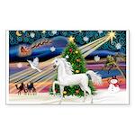 2-Christmas Magic - White Arabian Horse Sticke