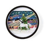 2-Christmas Magic - White Arabian Horse Wall C
