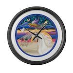 XmsStr/Horse (W2) Large Wall Clock