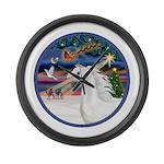 XmasMagic/Arabian Horse (W) Large Wall Clock