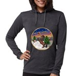 ORN-TakeOff2-Horse-Rearup1 Womens Hooded Shirt