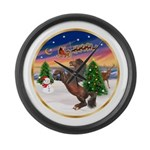 ORN-TakeOff2-Horse-Rearup1 Large Wall Clock
