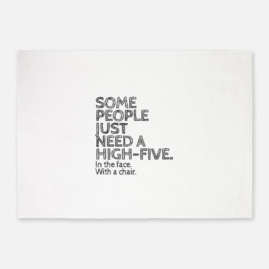 Some People Just Need A High-Five. 5'x7'Area Rug