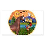 ORN-XmasFantasy-Arabian-headdown Sticker (Rect