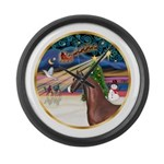 ORN-XmasMagic-ArabianHorse Large Wall Clock