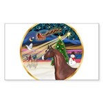 ORN-XmasMagic-ArabianHorse Sticker (Rectangle