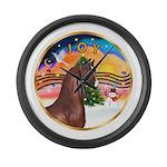 ORN-XmasMusic2-ArabianHorse Large Wall Clock