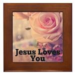 Jesus Loves you Framed Tile
