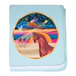 ORN-XmasStar-ArabianStandStatue baby blanket