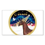 ORN-XmasSunrisePEACE-ArabianHorse Sticker (Rec
