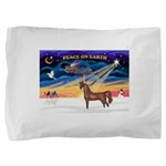 Christmas Sunrise - Brown Arabian Horse Pillow