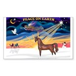 Christmas Sunrise - Brown Arabian Horse Sticke