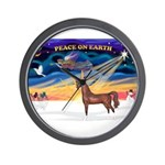 Christmas Sunrise - Brown Arabian Horse Wall C