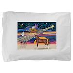 Christmas Star - Brown Arabian Horse Pillow Sh