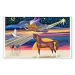 Christmas Star - Brown Arabian Horse Sticker (