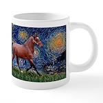 LIC-Starrynight-Horse-=brown-Lightening 20 oz