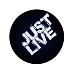 "Just Live 3.5"" Button (100 Pack)"