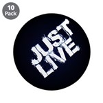 "Just Live 3.5"" Button (10 Pack)"