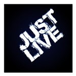 just live Square Car Magnet 3