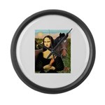 MP-Mona Brown HorseLightening Large Wall Clock