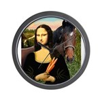 MP-Mona Brown HorseLightening Wall Clock