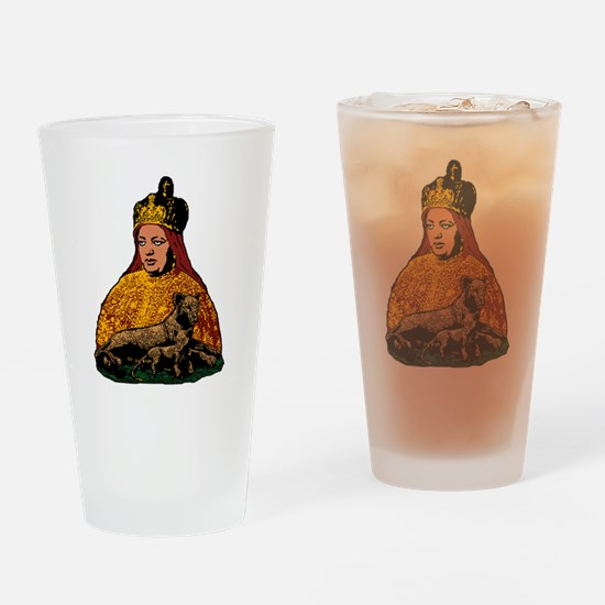 Cute Rastafari Drinking Glass
