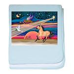 Xmas Star Buckskin Horse baby blanket