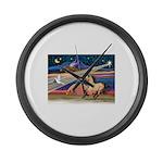 Xmas Star Buckskin Horse Large Wall Clock